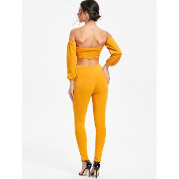 Pantalon Moulant et Haut Court Noué - Moutarde XL