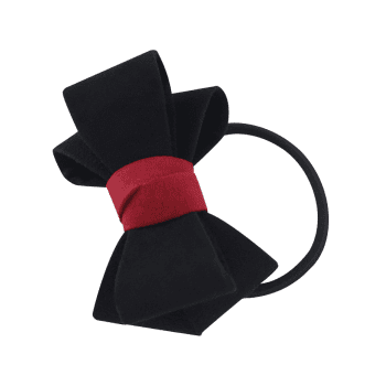 Bowknot Decorated Elastic Hair Band - BLACK