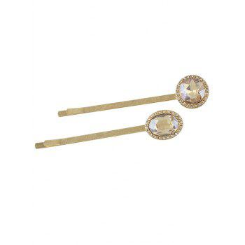 Geometric Faux Crystal Embellished Hair Clip - CHAMPAGNE