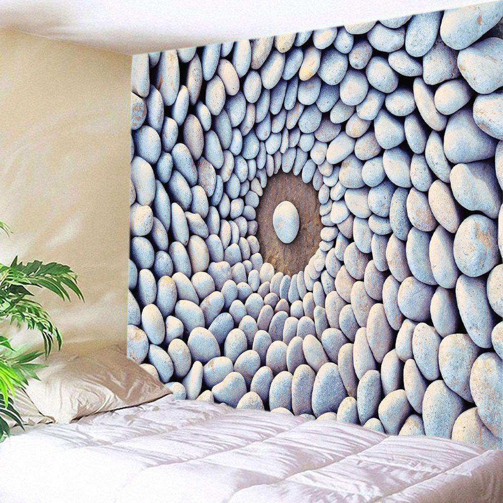 Pebbles Print Tapestry Wall Hanging Art two tone stripe print tapestry wall hanging art