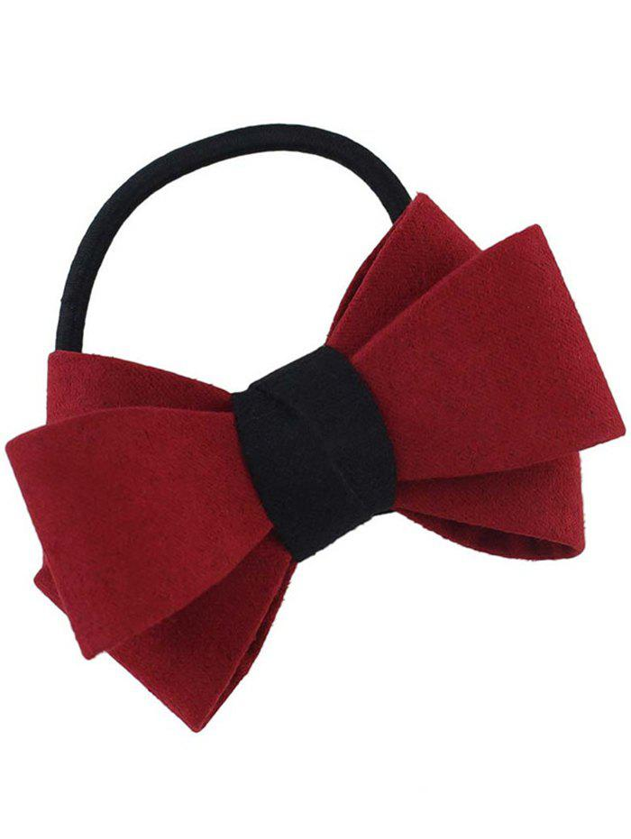 Bowknot Decorated Elastic Hair Band - RED