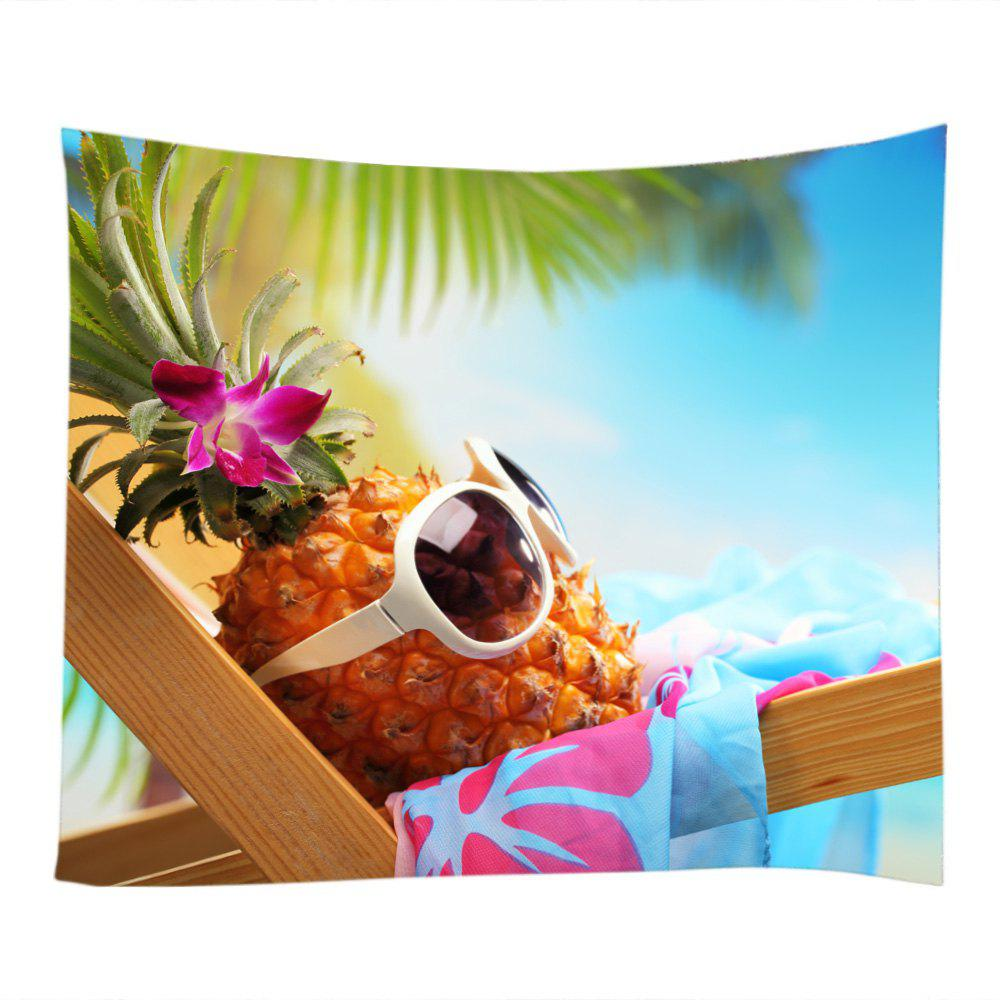 Pineapple Sunglass Beach Holiday Printed Wall Decoration Tapestry pineapple overlay tapestry