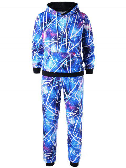 Galaxy Hoodie and Jogger Pants - BLUE M