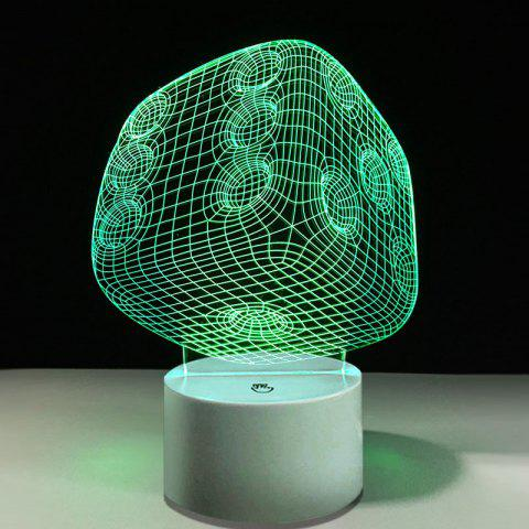 Dice Touch changement de couleur LED Night Light - Transparent