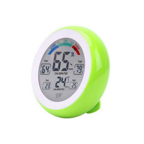 Temperature Humidity Touch Screen Digital Thermometer Hygrometer - GREEN