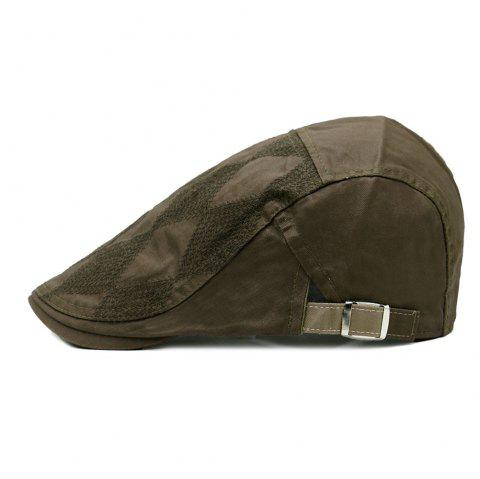 Rhombus Pattern Adjustable Cabbie Hat - ARMY GREEN
