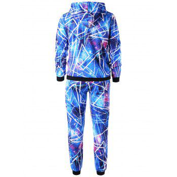 Galaxy Hoodie and Jogger Pants - BLUE L