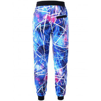 Galaxy Hoodie and Jogger Pants - BLUE 2XL