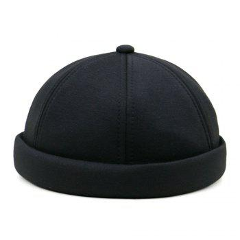Unique Line Embroidery Adjustable Beret - BLACK BLACK