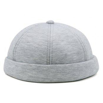 Unique Line Embroidery Adjustable Beret - LIGHT GRAY LIGHT GRAY