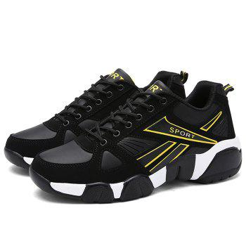 Running Sports Color Block Athletic Sneakers - YELLOW/BLACK 43