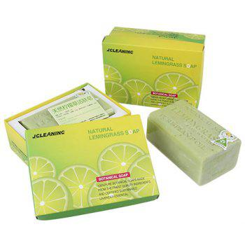 Lemon Handmade Skin Clean Botanical Soap Bar - GREEN 9*5.5*4CM