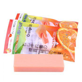 Clothes Shirt Collar Cleaning Stain Soap Bar - ORANGEPINK 11.5*4*2CM