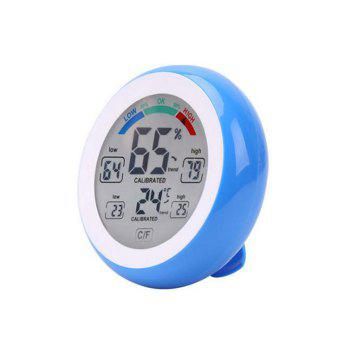Temperature Humidity Touch Screen Digital Thermometer Hygrometer - BLUE BLUE