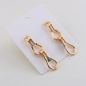 Hollow Out Geometrical Alloy Stud Drop Earrings - GOLDEN