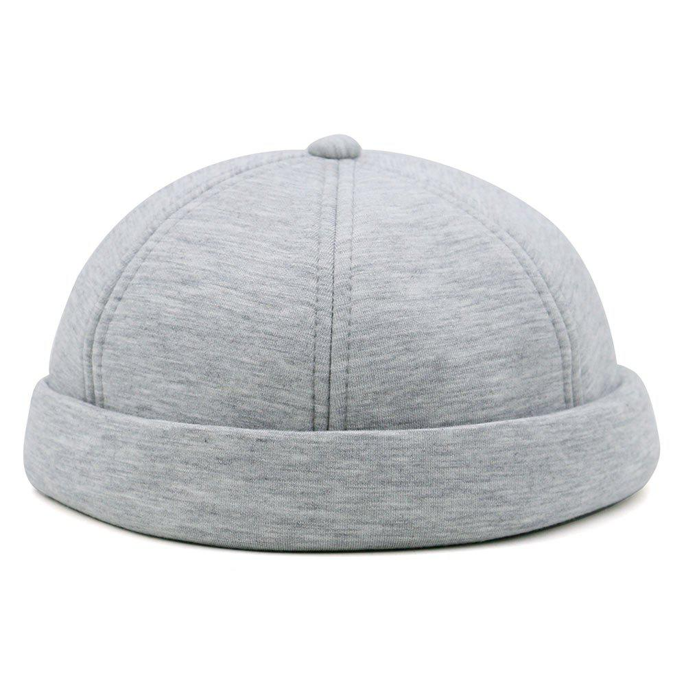 Unique Line Embroidery Adjustable Beret - LIGHT GRAY