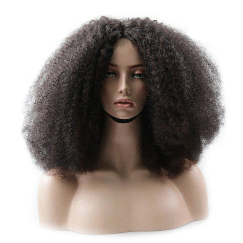 Medium Center Parting Bouffant Afro Curly Synthetic Wig 253117901