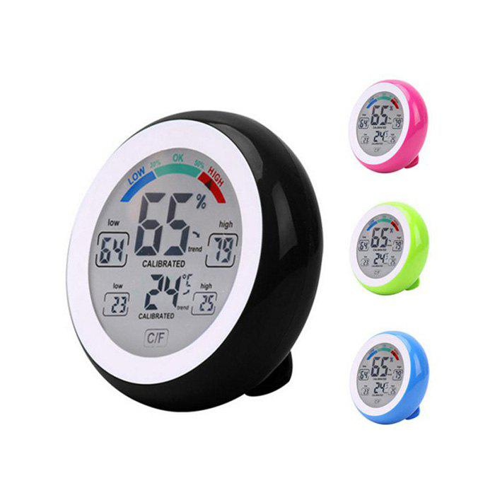 Temperature Humidity Touch Screen Digital Thermometer Hygrometer - BLUE