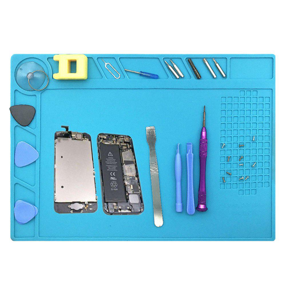 Heat Resistant Phone Maintenance Kit Desk Mat - BLUE 33.5*22.7CM
