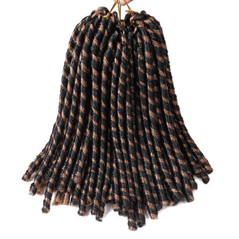 Short Crochet Braids Dreadlocks Synthetic Hair Extension - BLACK/BROWN