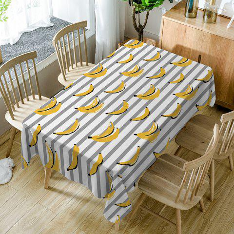 Bananas Striped Print Waterproof Table Cloth - COLORMIX W54 INCH * L72 INCH