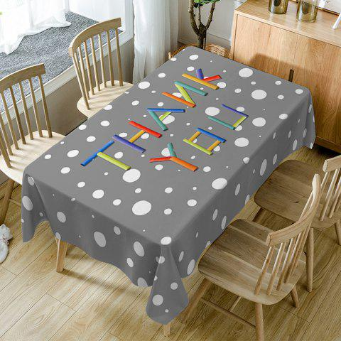 Nappe de Table Imperméable à Imprimé Inscription Thank You - multicolore W54 INCH * L54 INCH