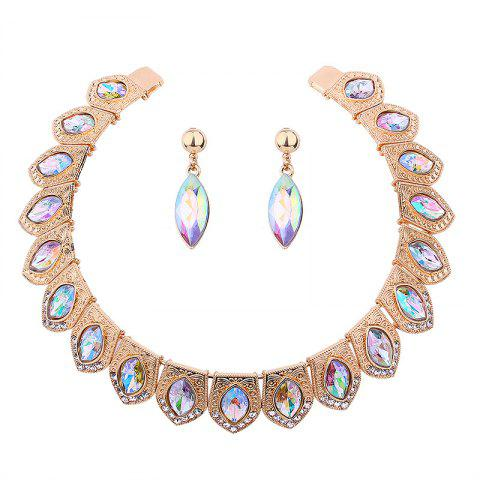 Vintage Rhinestone Torques with Earring Set - DAZZLING