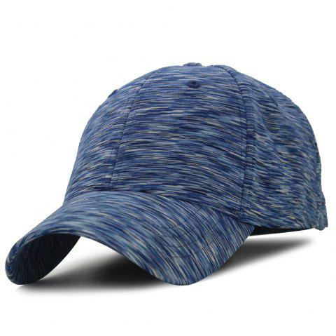 Color Splice Pattern Magic Stickers Baseball Hat - ROYAL
