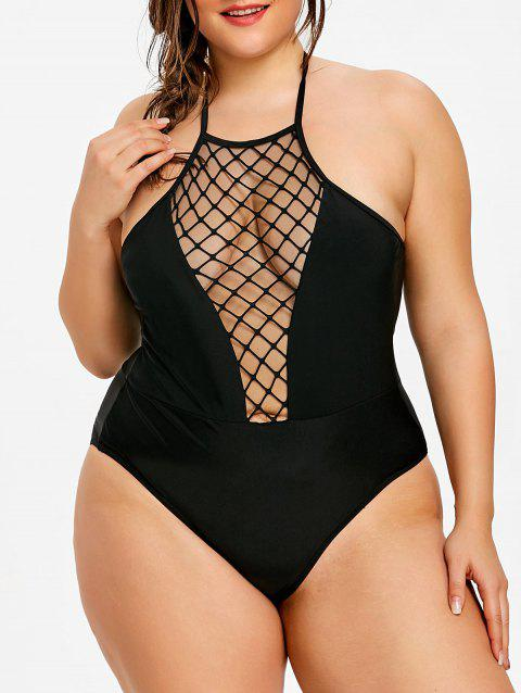 9e9a9559f8 LIMITED OFFER  2019 Plus Size See Through One Piece Swimwear In ...