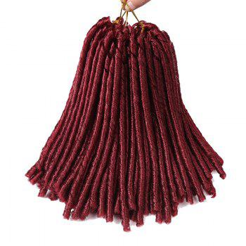 Short Crochet Braids Dreadlocks Synthetic Hair Extension - WINE RED WINE RED