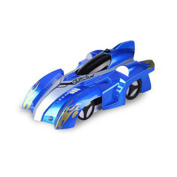 Wall Climbing Car With Remote Control - BLUE 14*8.5*5CM