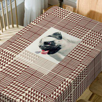Dog Geometric Print Waterproof Table Cloth - BROWN W54 INCH * L54 INCH