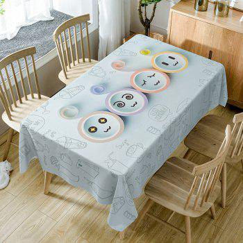 Cartoon Emoticon Print Waterproof Table Cloth - COLORMIX COLORMIX