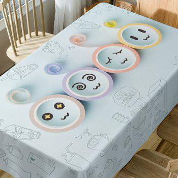 Cartoon Emoticon Print Waterproof Table Cloth - COLORMIX W60 INCH * L84 INCH