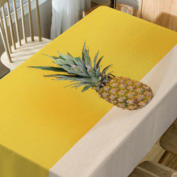 Pineapple Print Waterproof Table Cloth - YELLOW W60 INCH * L84 INCH