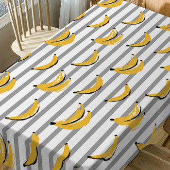 Bananas Striped Print Waterproof Table Cloth - COLORMIX W54 INCH * L54 INCH