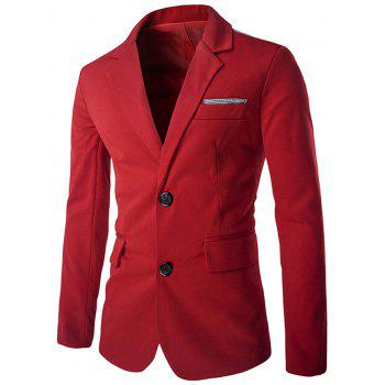 Swallow Gird Single Breasted Color Block Blazer - RED RED