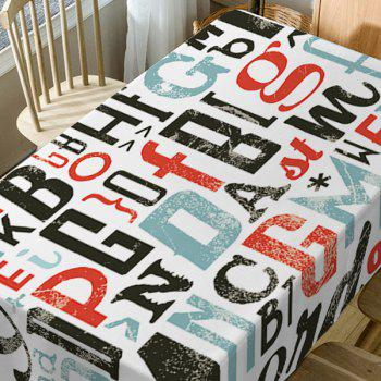Letter Print Waterproof Table Cloth - COLORMIX W60 INCH * L84 INCH