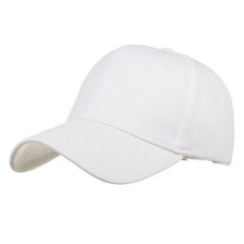 Simple Line Embroidery Adjustable Baseball Cap - WHITE WHITE