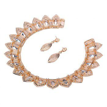 Vintage Rhinestone Torques with Earring Set - CHAMPAGNE