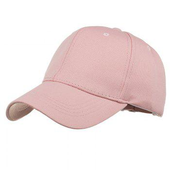 Simple Line Embroidery Adjustable Baseball Cap - PINK PINK