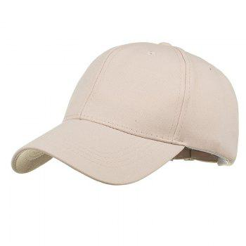 Simple Line Embroidery Adjustable Baseball Cap - BEIGE BEIGE