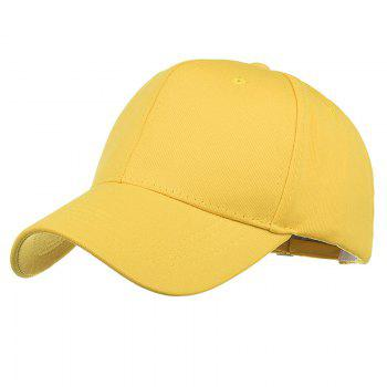 Simple Line Embroidery Adjustable Baseball Cap - YELLOW YELLOW
