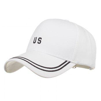Unique US Embroidery Adjustable Sunscreen Hat - WHITE WHITE