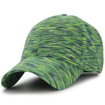 Color Splice Pattern Magic Stickers Baseball Hat - GREEN GREEN
