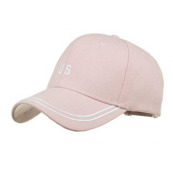 Unique US Embroidery Adjustable Sunscreen Hat - PINK PINK