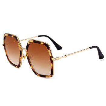 Anti UV Full Frame Oversized Driver Sunglasses - LEOPARD+DARK BROWN LEOPARD/DARK BROWN