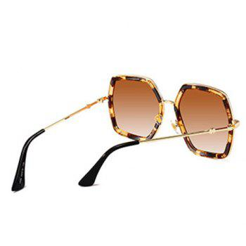 Anti UV Full Frame Oversized Driver Sunglasses - LEOPARD/DARK BROWN