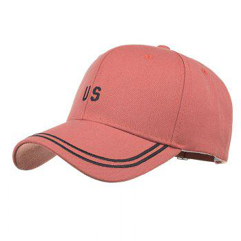 Unique US Embroidery Adjustable Sunscreen Hat - ORANGE ORANGE