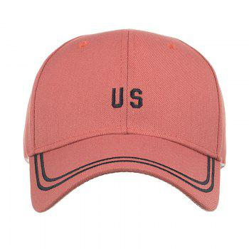 Unique US Embroidery Adjustable Sunscreen Hat -  ORANGE